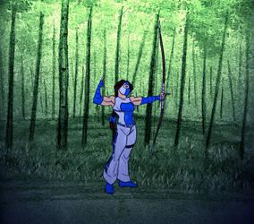 Valerie Fox- Arrow action by LavenderBlade