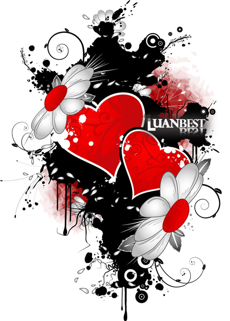 HQ. Brushes 4 photoshop Heart_Brush_Vector_by_luanbest