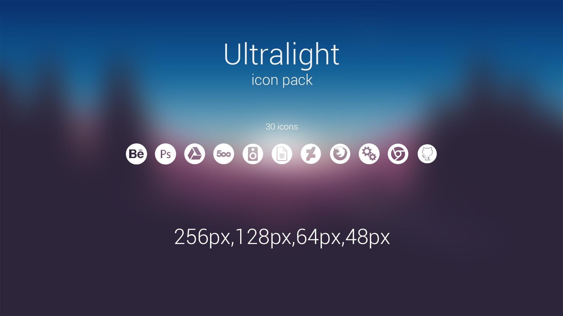 Ultralight icons