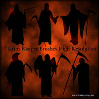 Grim Reaper Brushes by roseenglish