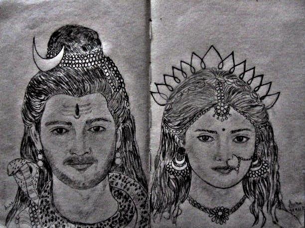 Shiva Parvati By Sylluette On Deviantart