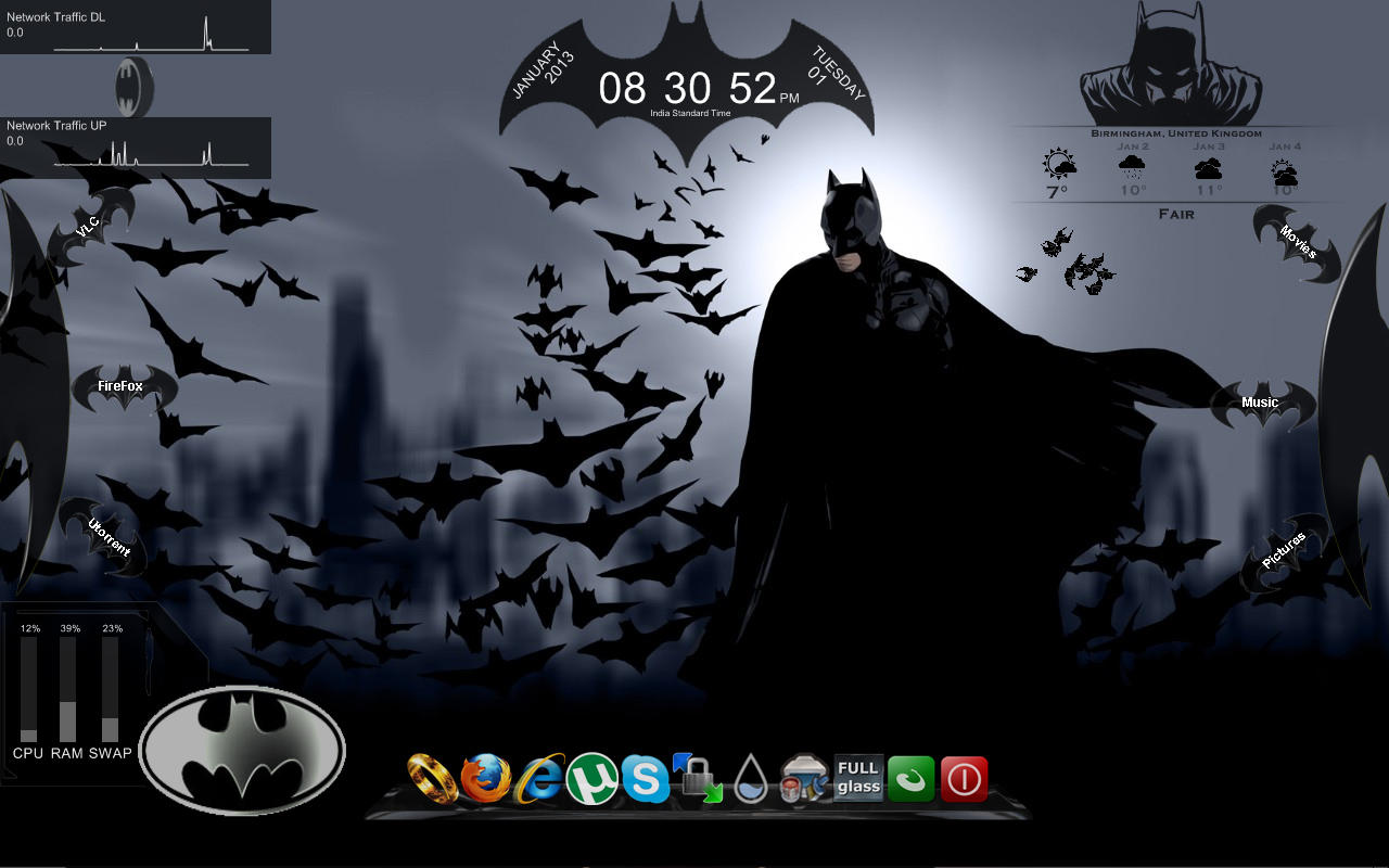 Batman for rainmeter by tibinthomas22