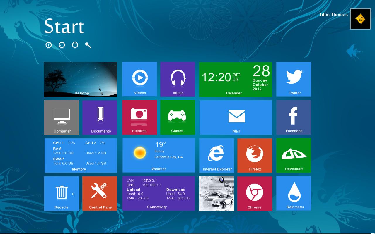 Windows 8 look alike by tibinthomas22