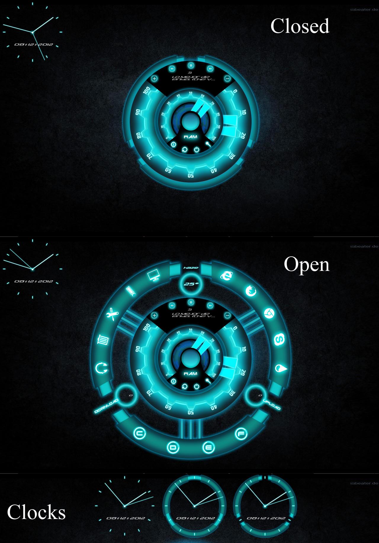 Sci-fi theme for rainmeter by tibinthomas22