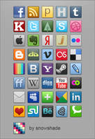 Social Icons Pack by SnowShade