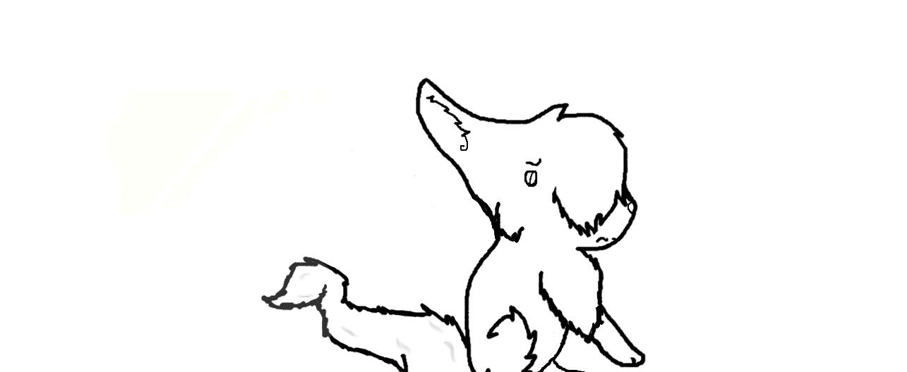 Depressed wolf drawing - photo#7