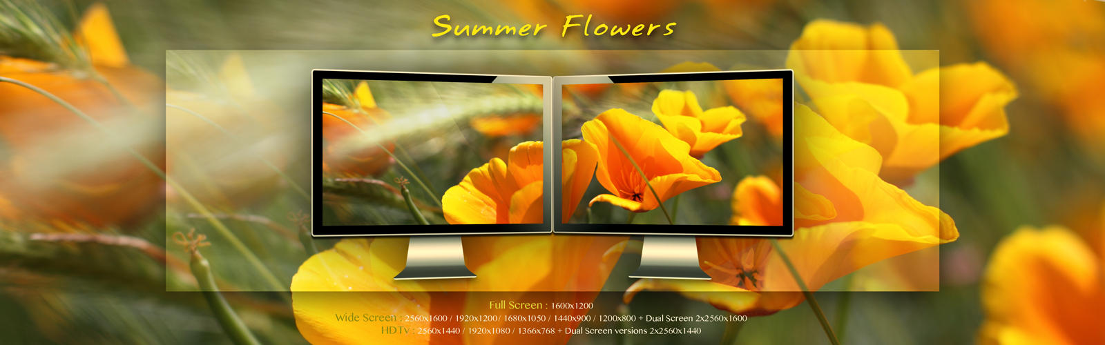 Summer Flowers Wallpaper Pack by Pierre-Lagarde