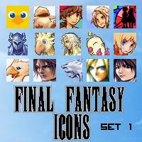Final Fantasy Icons - Set 1 by UltimeciaFFB