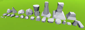 Low Poly Rock Pack 001 (with download)