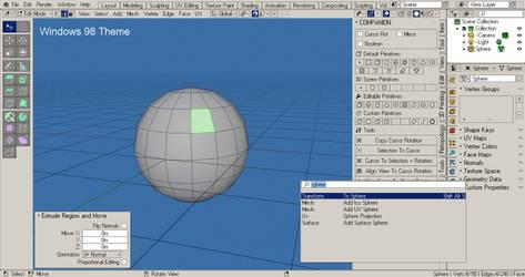 Blender - Windows 98 Theme