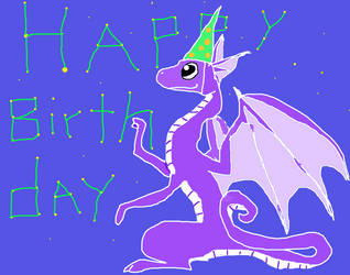 Star dragon's happy birthday for candyflossunicorn