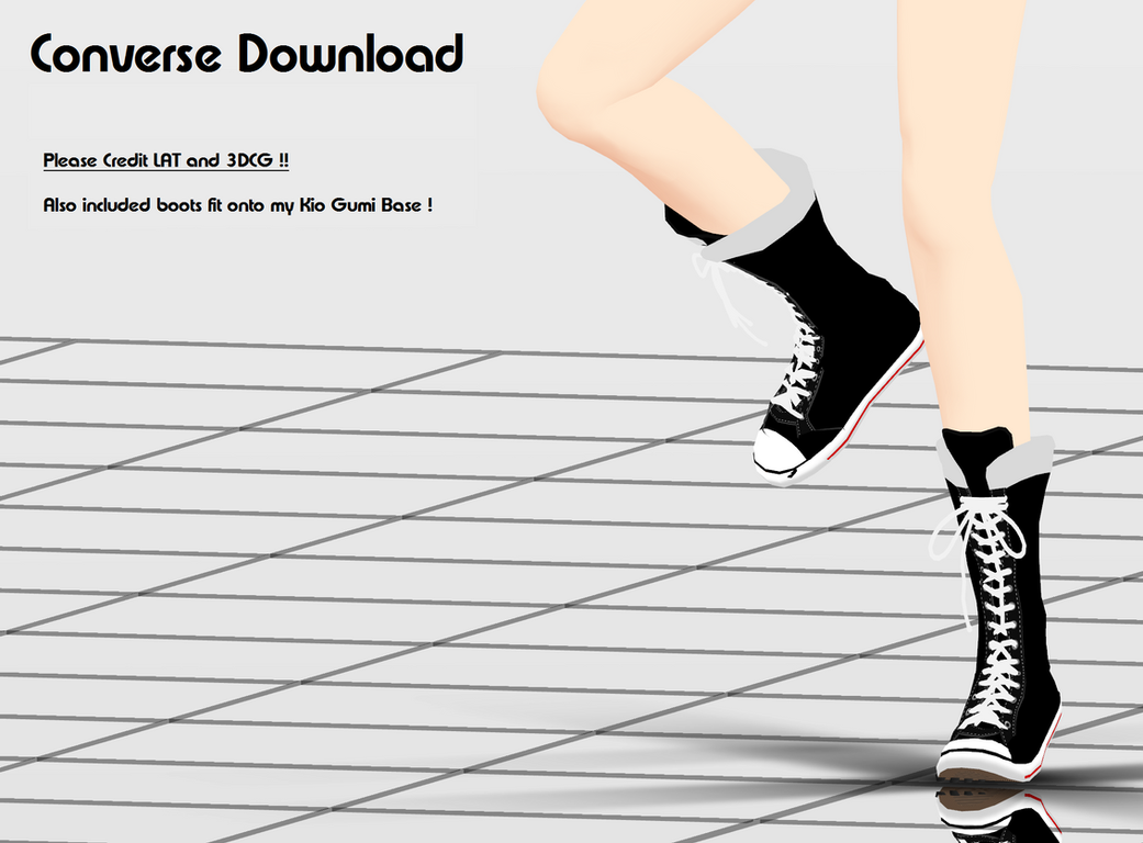 MMD Converse + DL by MMDYuuki