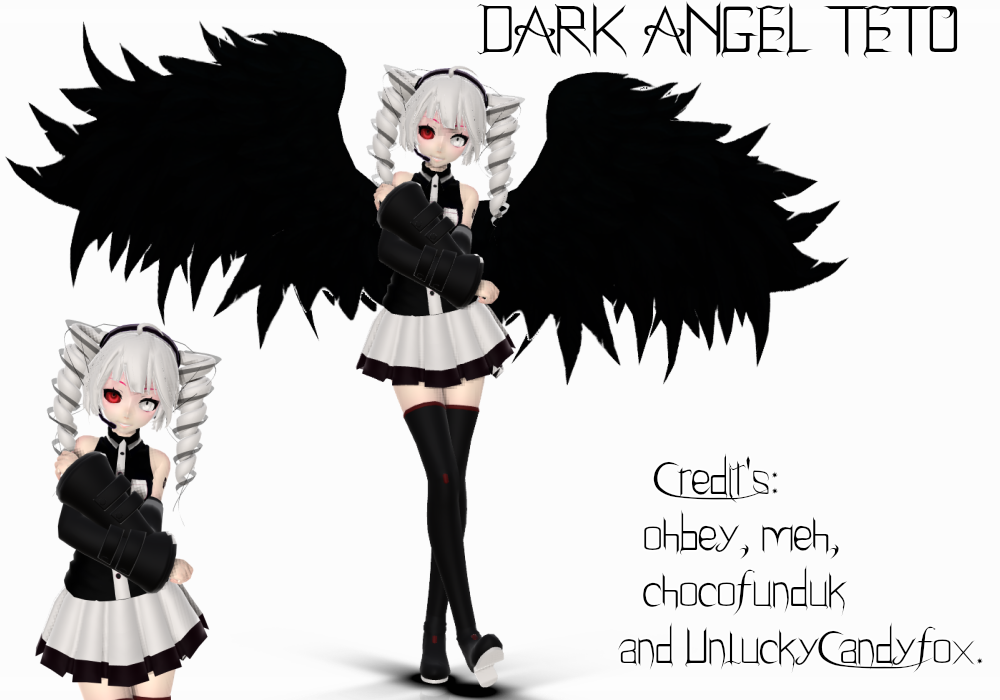 Mmd Tda Teto Dark Angel Download By Koemichan On Deviantart