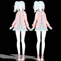 Mmd Tda Ribbon Girl Miku dl!~ by KoemiChan