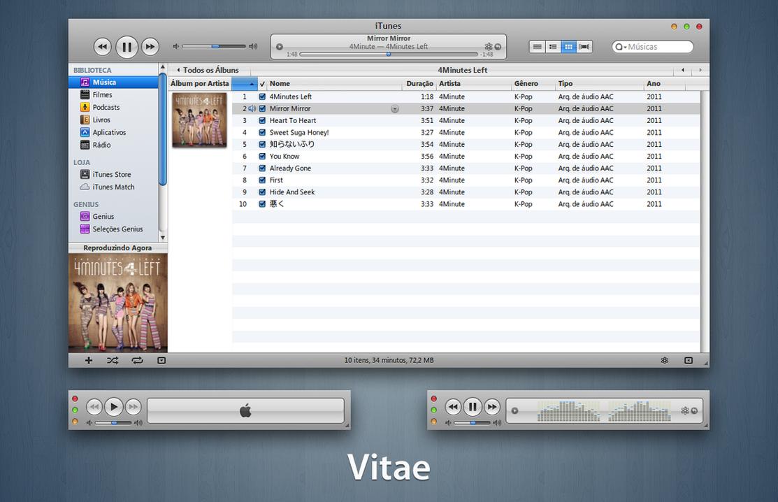 Vitae iTunes 10 for Windows by 1davi on DeviantArt