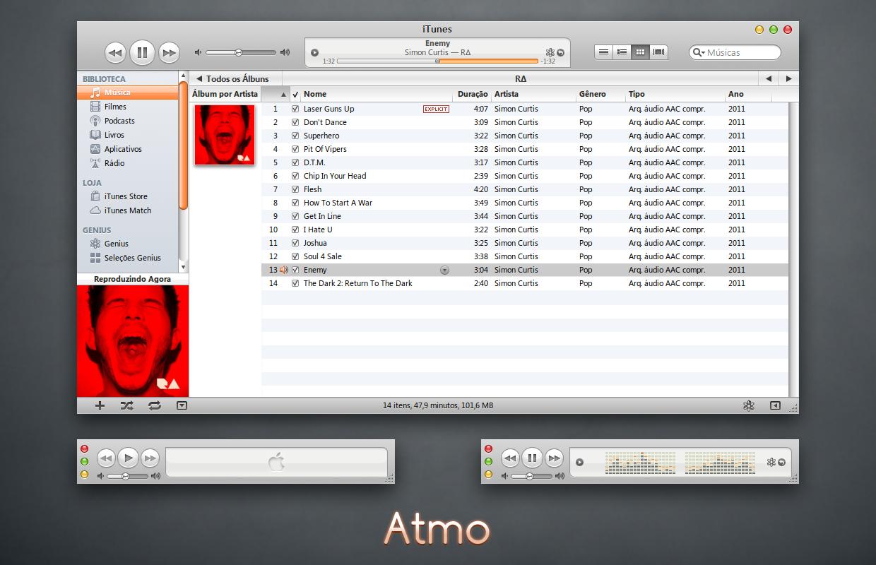 Atmo iTunes 10 for Windows