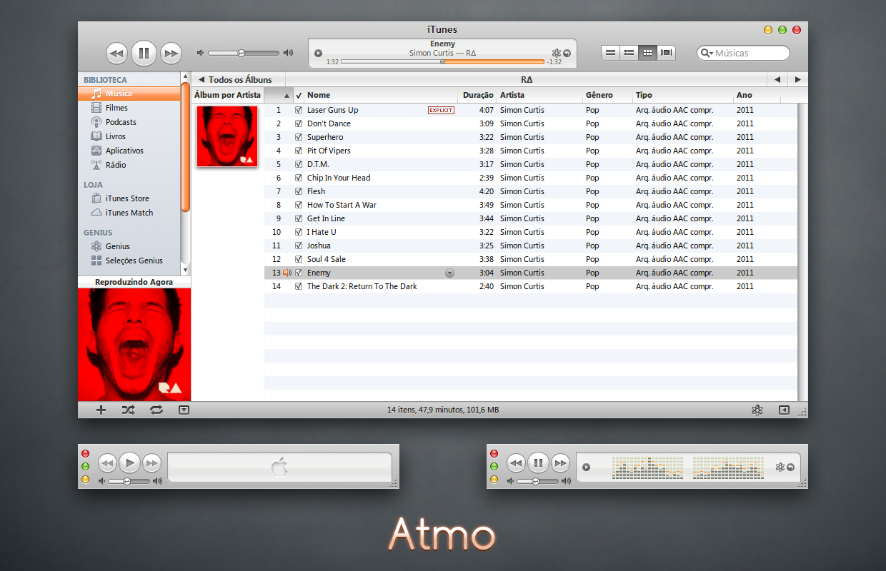 Atmo iTunes 10 for Windows by 1davi