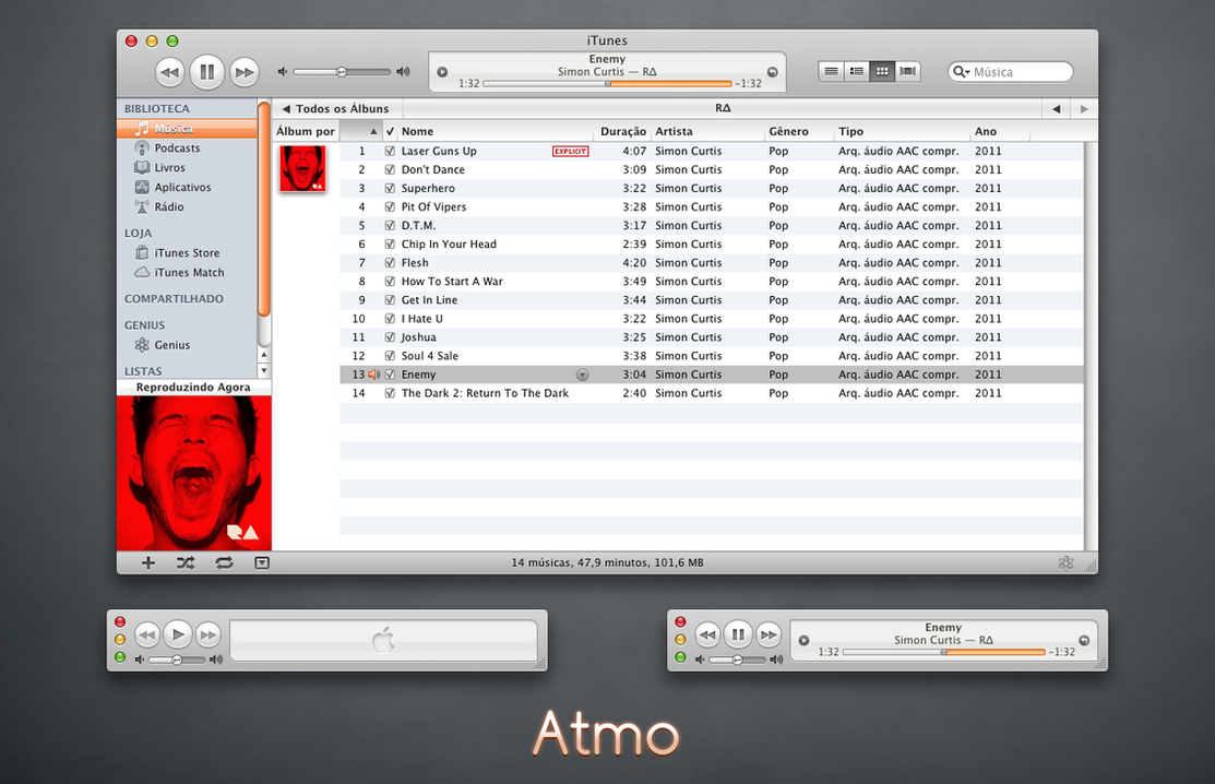 Atmo iTunes 10 for Mac by 1davi