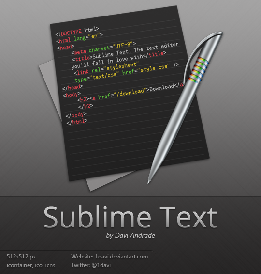 Sublime Text by 1davi