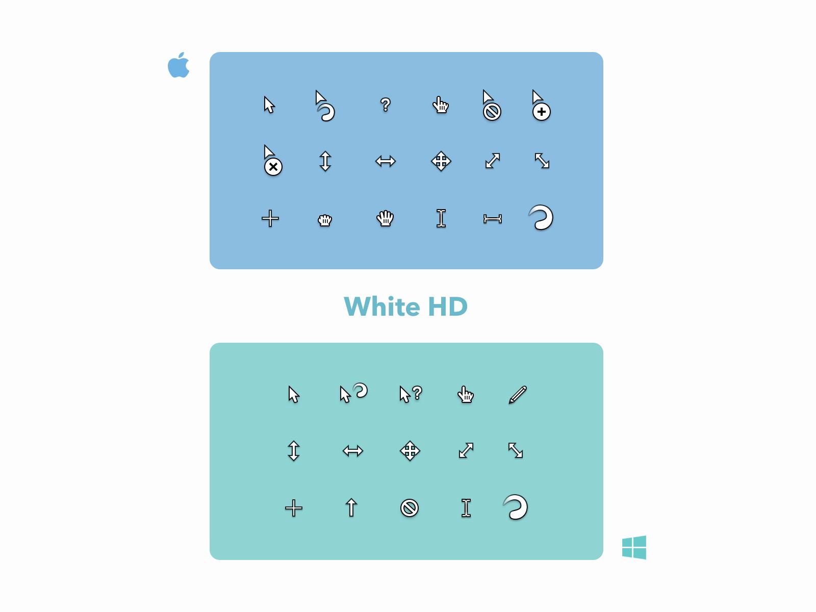 White HD Cursor