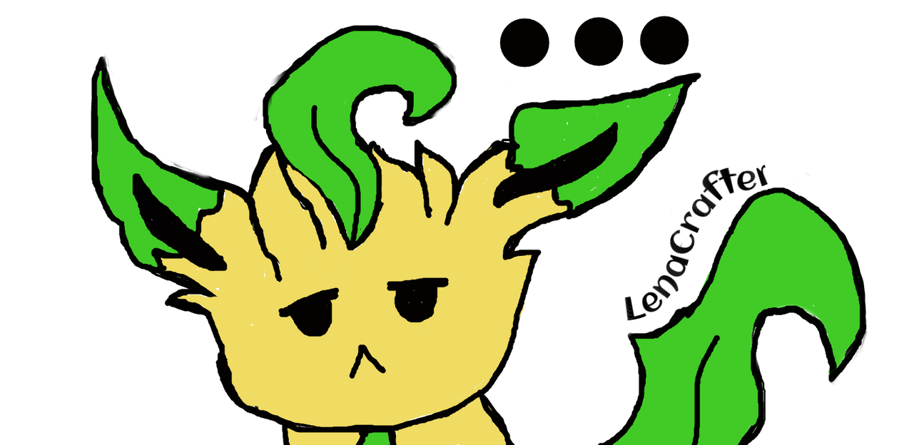 Depressed Leafeon by LenaCrafter