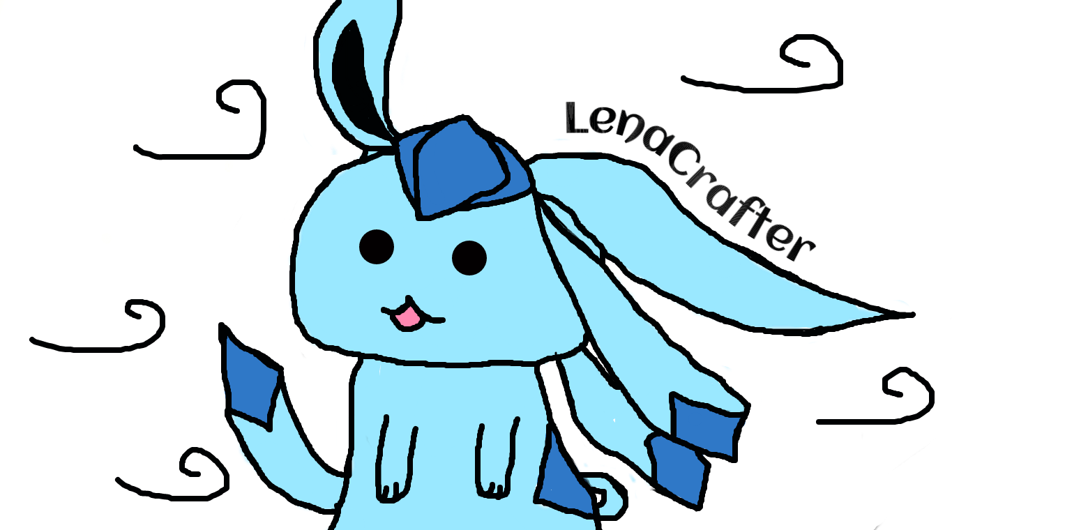 Glaceon in the wind. by LenaCrafter