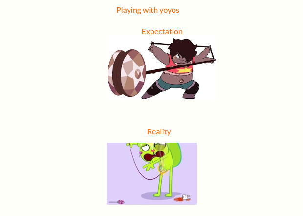 Expectation Vs Reatily Yoyos by Idyemyhairpink34