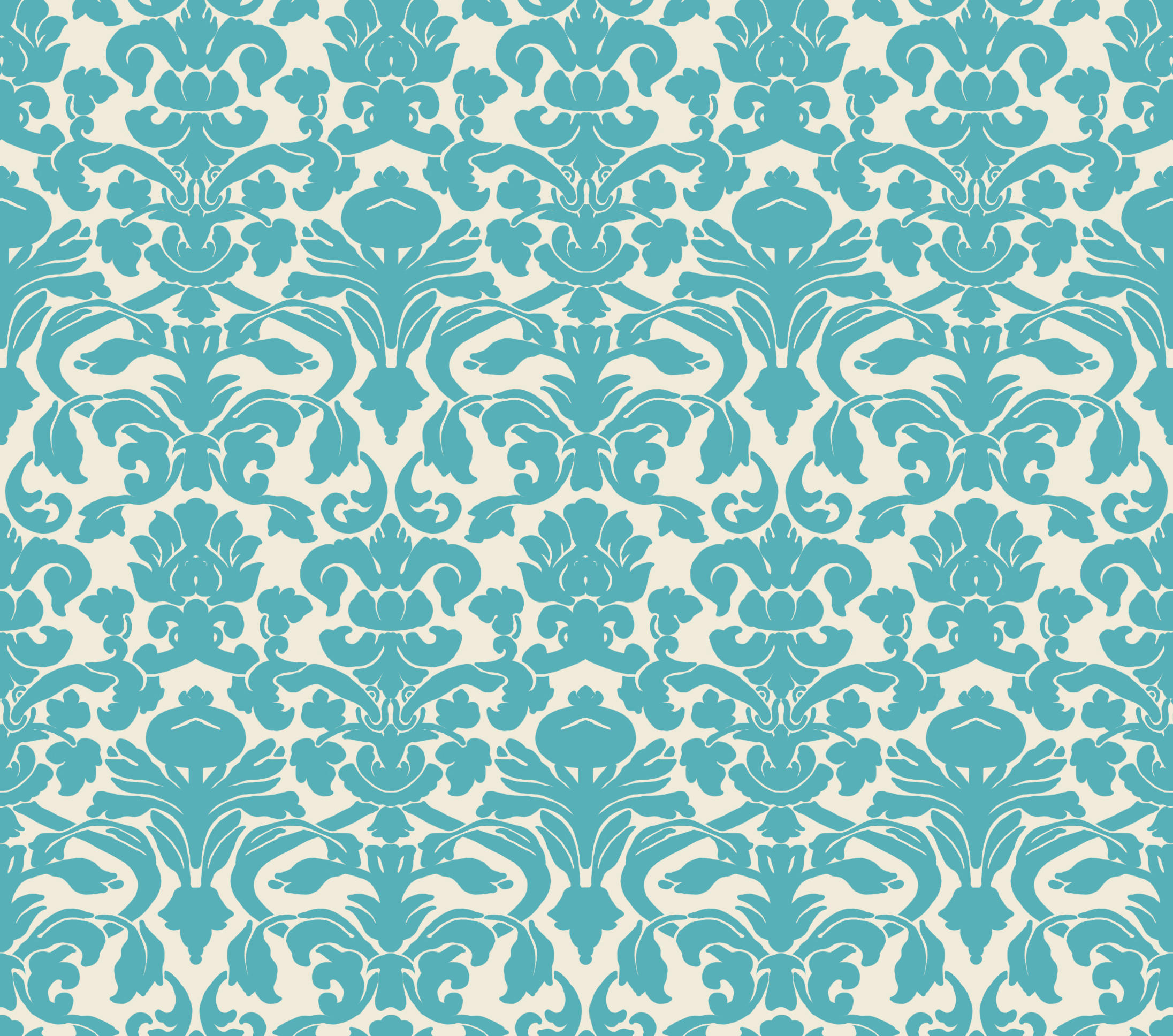 Damask wallpaper by insurrectionx on deviantart for Teal wallpaper