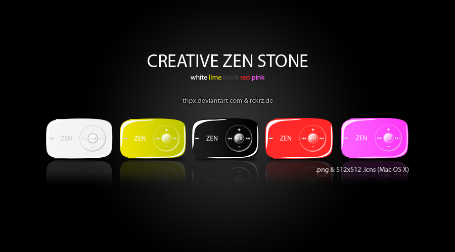 Creative Zen Stone Icon Set by Thpx