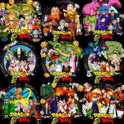 Dragonball Saga Complete Icon Set by DarkSaiyan21