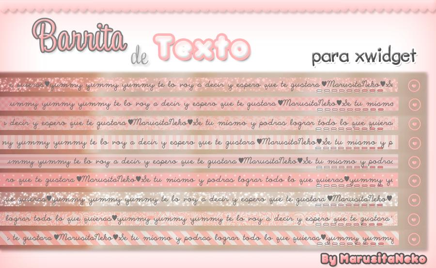 Barrita de Texto n.n by marusitaneko