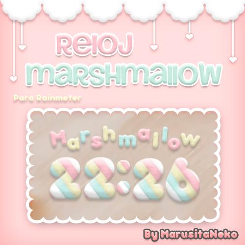Reloj Marshmallow *w* by marusitaneko