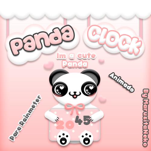 Panda Clock Animado OwO by marusitaneko
