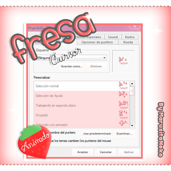 Fresa Cursor Animado n.n by marusitaneko