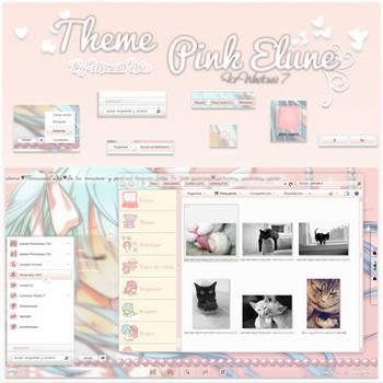 Theme Pink Elune Windows 7 n.n by marusitaneko