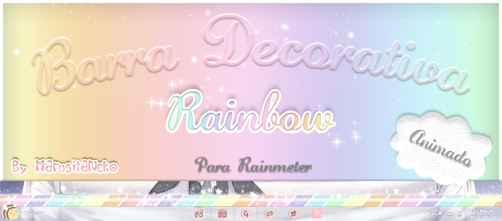 Barra Rainbow Animada *w* by marusitaneko
