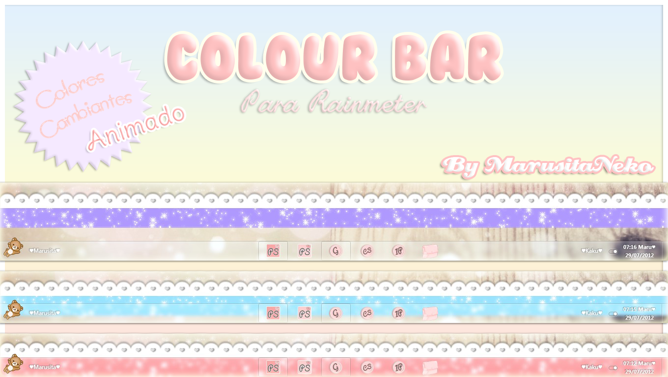 Colour Bar *u* by marusitaneko
