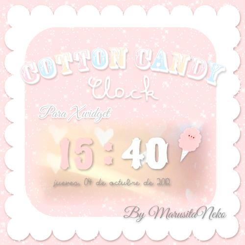 Cotton Candy Clock c: by marusitaneko