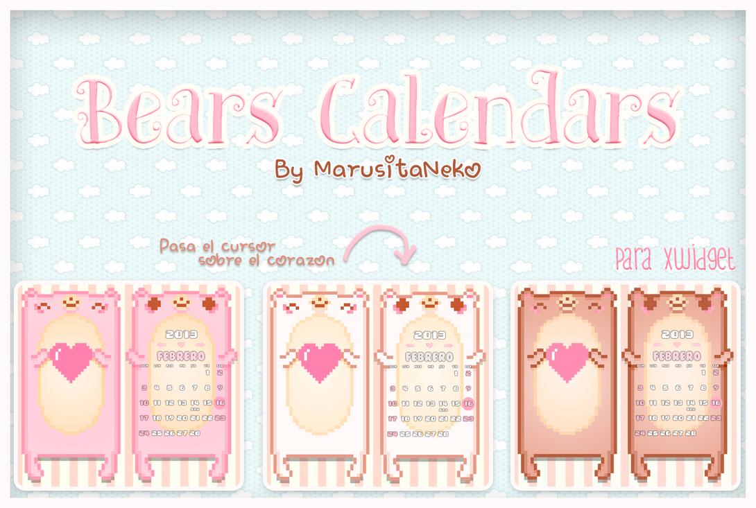 Bears Calendars by marusitaneko