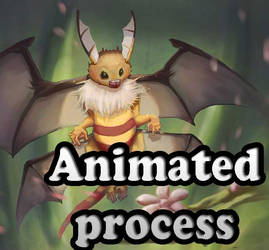Animated process of Honey Dragon by MILICRAFT