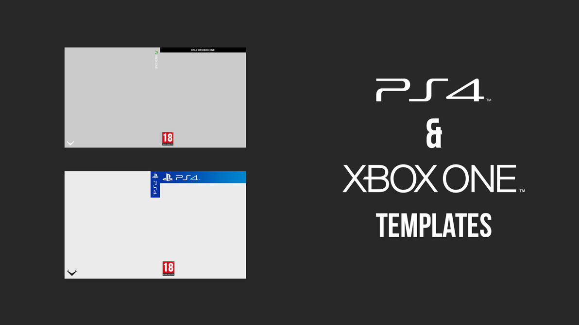 ps4 xbox one box art templates by rlbdesigns on deviantart