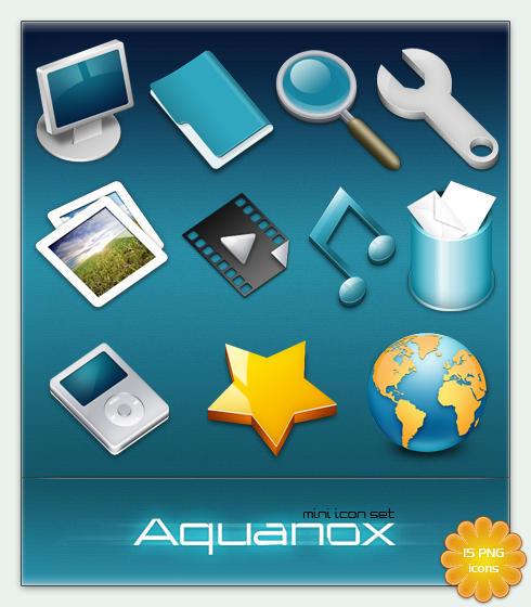Aquanox mini Icon Set by cyberchaos05