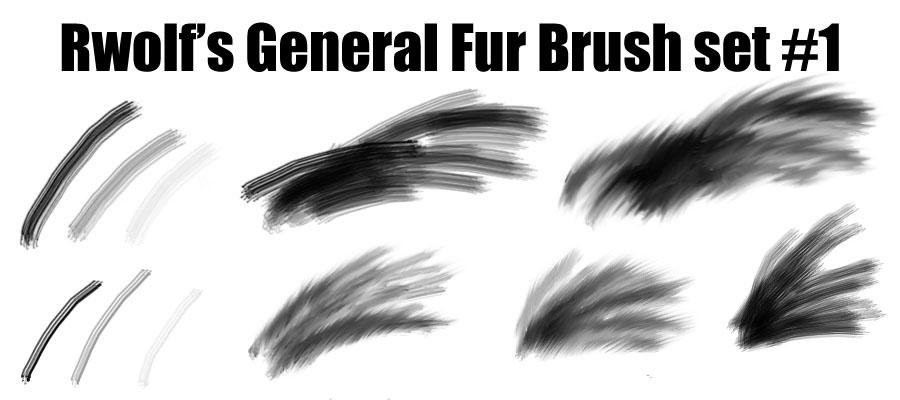 Rwolf's General Fur Brushes