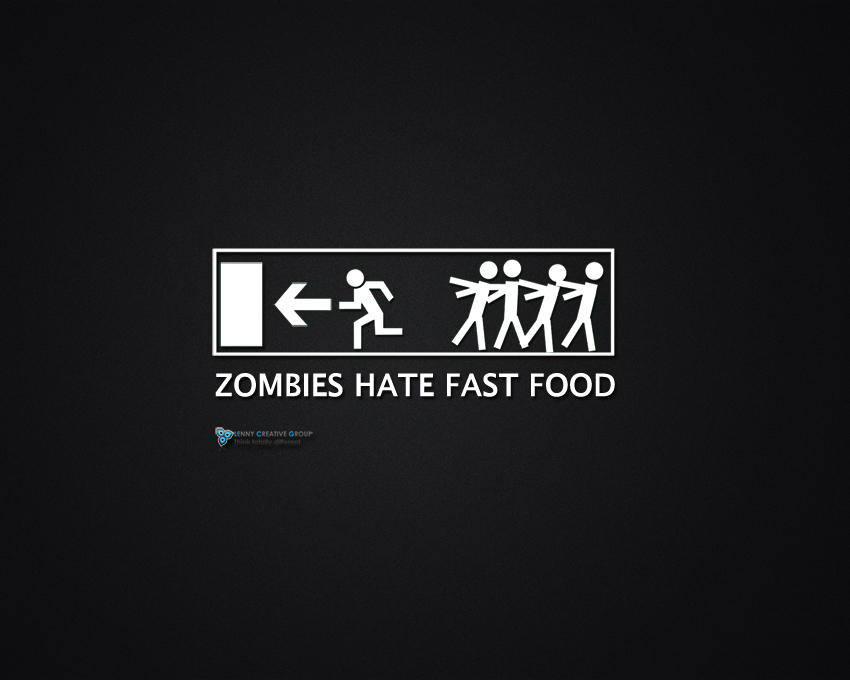 Zombies hate fast food - HD WP by pilpani