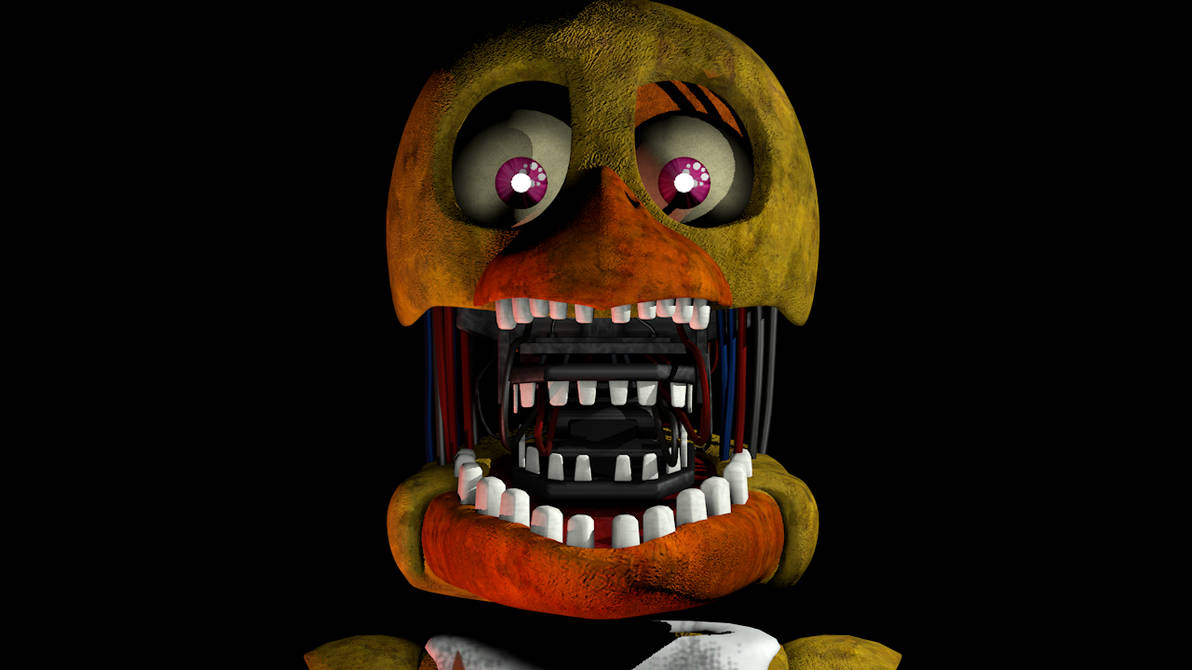 C4D/FNaF) FNaF 2 | Withered Chica Jumpscare by