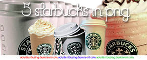 5 starbucks in png