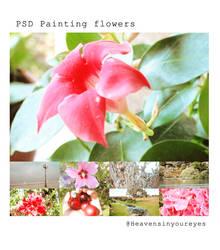 PSD Painting Flowers by Heavensinyoureyes