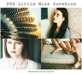PSD Little miss sunshine (DOWNLOAD FOR FREE) by Heavensinyoureyes