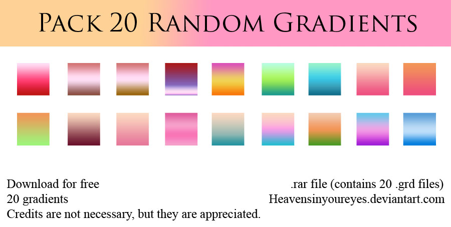 PACK 20 GRADIENTS (DOWNLOAD FOR FREE) by Heavensinyoureyes