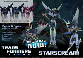 3D Transformers Prime Starscream DOWNLOAD by RazzieMbessai